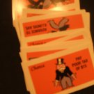 Parker Brothers Deluxe Monopoly Full Set Chance cards