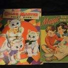 Vintage Color Master & Magic Paintless Paint Books 1949
