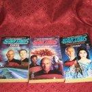 3 Star Trek Novels The Next Generation #11 #13 #14 1990