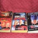 3 Star Trek Novels The Next Generation #1 #2 #3 1988