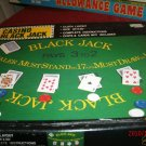 Vintage Crisloid Casino Black Jack Game Felt Laydown