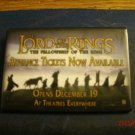 Movie Theater Promo Badge - Lord Of The Rings