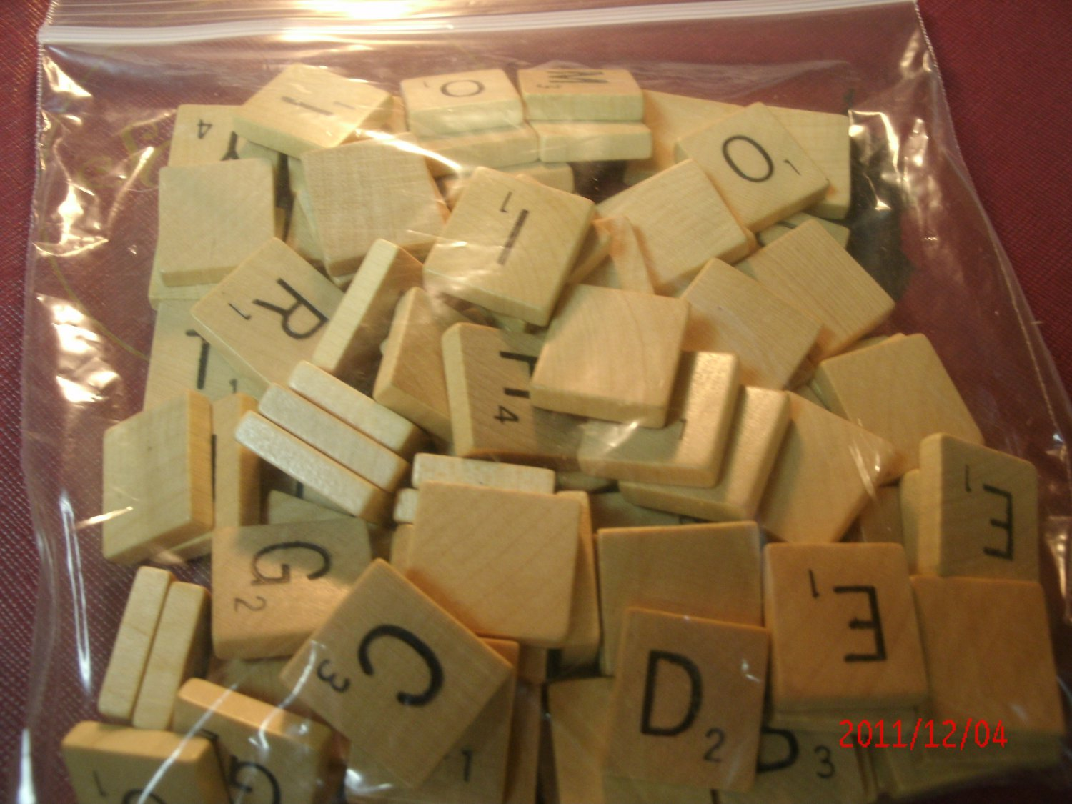 Scrabble Wood Tile Letter W