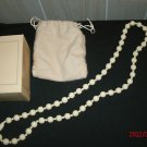 "1980 Avon Fashion Lustre 28"" Ivory Tone Bead Necklace"