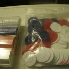 Large lot of vintage poker chips. Old Style, paper covered