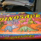 1987 DINOSAURS Fuzzy Felt Board and 26 Pieces Use over and over Complete