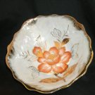 Beautiful Glass Bowl - with an orange flower