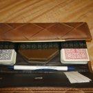 Vintage Bridge Card Set in Wallet - Advertising Promo Item