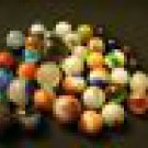 Lot of Vintage Marbles 1940's - Many Types, Sizes and Colors - 40 Marbles Total