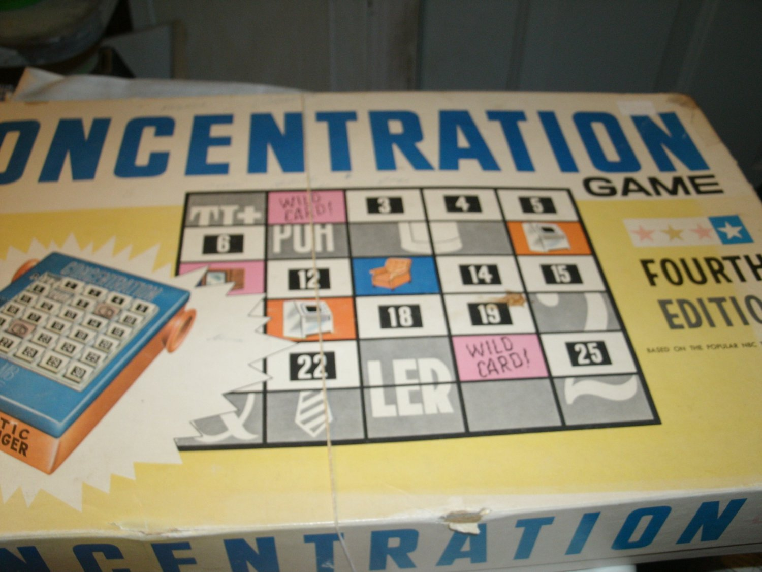 Concentration 4th Edition 1959 Inspired by the TV Game