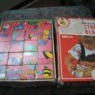 Vintage Sears Winnie-the-Pooh Wood Picture Puzzle Blocks 20 blocks Walt Disney
