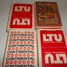 4 Decks Airline Playing Cards w/Boxes Western, Continental & (2) LTU Intl. Airlines