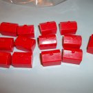 Parker Brothers Monopoly  13 Red Plastic Hotels