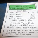 1974 Parker Brothers Monopoly Deed Card Pennsylvania Ave