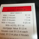 Monopoly Electronic Banking Game Part - 1 Deed Card Red