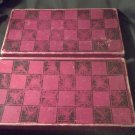 Vintage Checkers & Backgammon Set * Maybe 1930's? * Game Becomes The Box