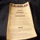 1977 Gambler Game Rules Only
