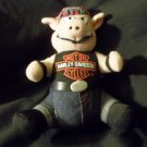 "Cute 1993 Plush Harley Davidson Hog Pig Seated 7"" Tall"