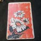Vintage Playing Cards - 1940's or 1950's Flowers with Red Background Complete