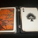 Vintage Playing Cards -  Fall Leaves , Plastic Case, Complete