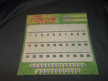 Wipe Off Game Board ONLY (for Pressman Wheel of Fortune 25th Anv in Tin Box)