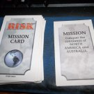 Parker Brothers RISK 1998    Game Cards  12 Mission Cards