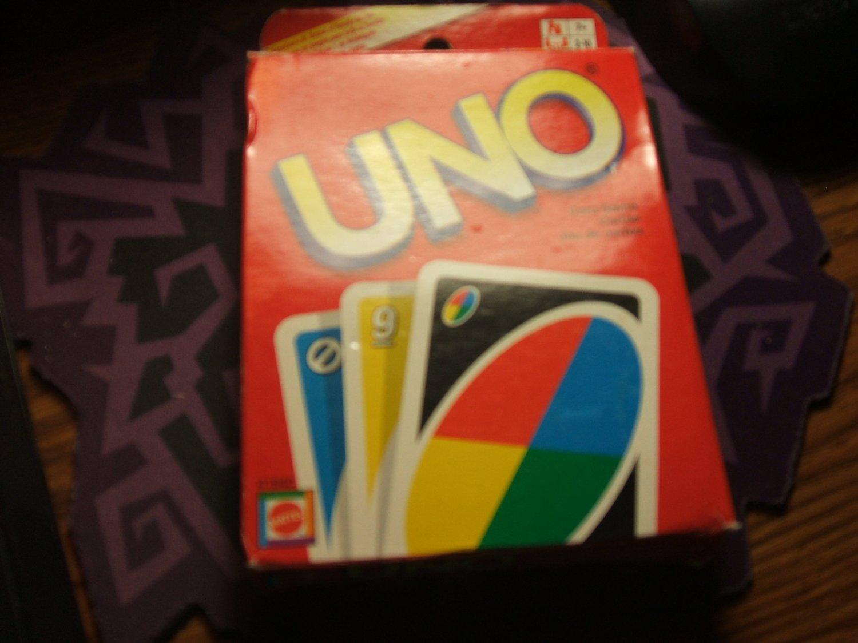 Deck of UNO Cards Sealed Unused  Red/Black Backs