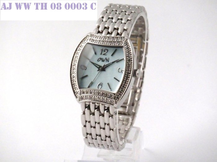 SWAROVSKI LADY WATCH WITH SOLID BRACELET AND BLUE MOP DIAL