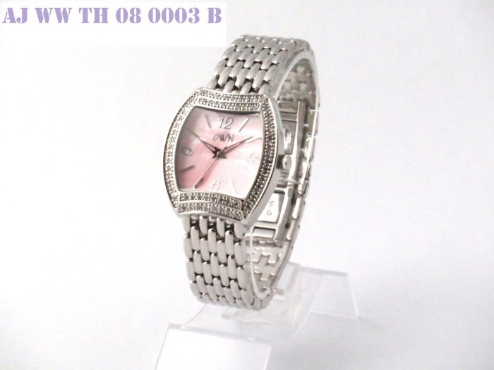 SWAROVSKI LADY WATCH WITH SOLID BRACELET AND PINK MOP DIAL