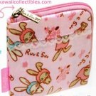 Kawaii San-X Japan Ruu & Suu Bunny Rabbit Coin Purse