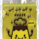 Kawaii Flan Purin Pudding House Ziplock Plastic Storage Bags