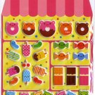 Kawaii Candy Shop Sweets Desserts Sponge Sticker Sheet