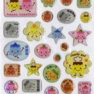 Kawaii Flan Purin Pudding House Hard Epoxy Sticker Sheet NEW