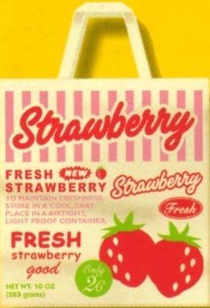 Kawaii Incentive Japan Strawberry Shopping Bag Tote NWT