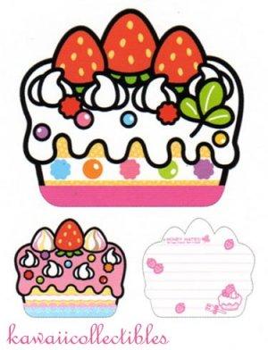 Kawaii Kamio Honey Mates! Japan Die-cut Cake Memo Pad NEW