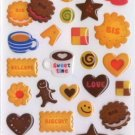 Kawaii Mind Wave Japan Sweet Time Biscuit Cookie Epoxy Sticker Sheet NEW