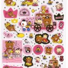 Kawaii San-X Japan Rilakkuma Korilakkuma Relax Bear 5th Anniversary Stickers Sticker Sheet NEW