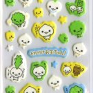 Kawaii San-X Japan Soreike Otamachan Otama Chan Mint Scented Glittery Puffy Stickers Sticker Sheet