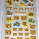 Kawaii San-X Japan Rilakkuma Relax Bear Mint Scented Glittery Puffy Stickers Sticker Sheet