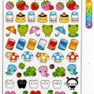 Kawaii Q-lia Japan Smile Pocket Friends Glitter Sparkly Stickers Sticker Sheet NEW