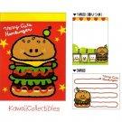 Kawaii Kamio Japan Very Cute Hamburger Mini Memo Pad NEW