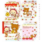 Set of 4 Kawaii San-X Japan Rilakkuma Strawberry / Little Red Riding Hood Mini Memo Pads NEW