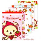 Kawaii San-x Japan Rilakkuma Strawberry / Little Red Riding Hood Memo Pad w/ Stickers NEW (B)
