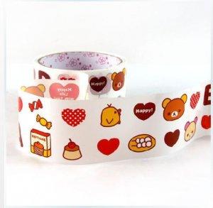 Kawaii Angoo Wide Deco Tape San-X Rilakkuma Relax Bear NEW