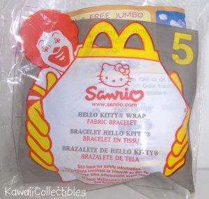 McDonald's Happy Meal Toy Sanrio Hello Kitty Wrap Fabric Bracelet #5 NIP