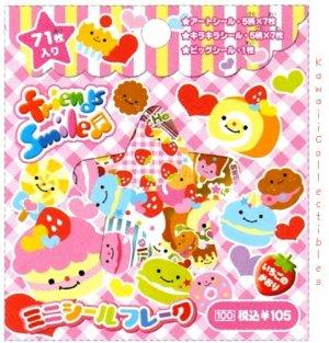 Kawaii Crux Strawberry Scented Stickers Sticker Sack Friends Smile Sweets NIP