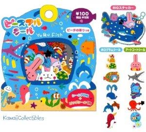 Kawaii Mind Wave Stickers Sticker Sack Yuru Fish World NIP
