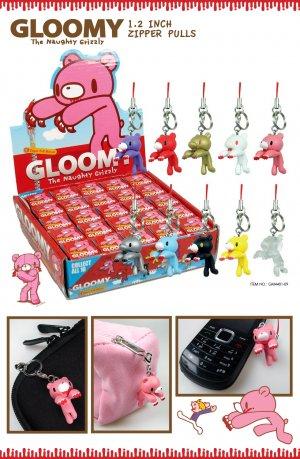 "Kawaii Gloomy Bear Mori Chack 1.2"" Zipper Pull Mascot NIB"