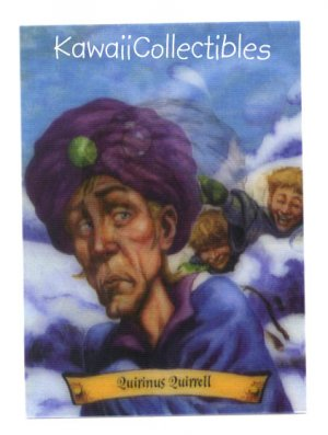 Harry Potter Collectible Lenticular Chocolate Frog Card Quirinus Quirrell #12/12 MINT