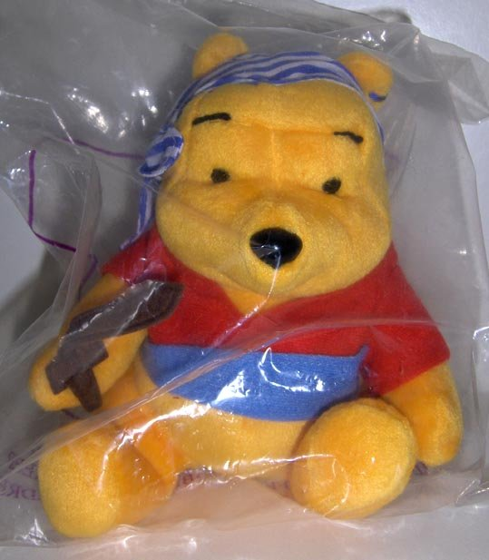 McDonald's Disney Singapore Winnie the Pooh Plush Pirate NIP